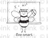 Bee Smart - I Dig Digi stamp