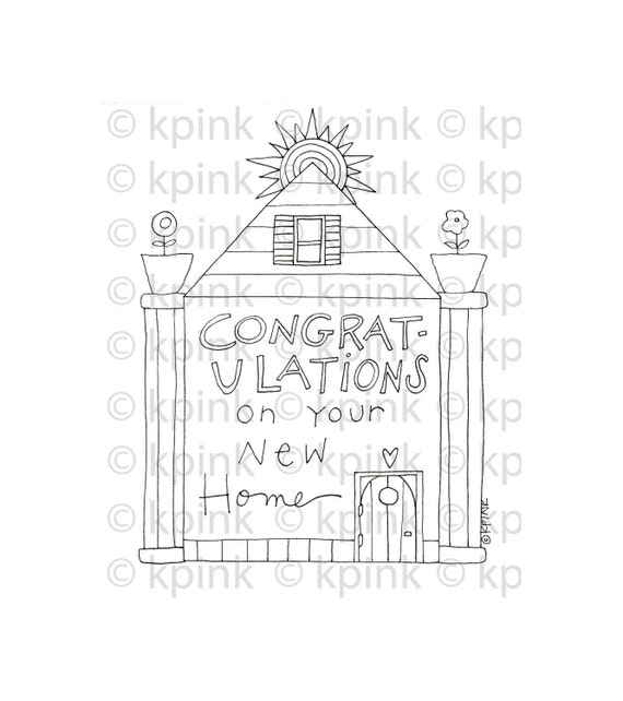 New Home-I Dig Digi Stamp