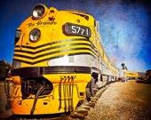 Rio Grand Train Engine Photo / Boys Room Wall Art