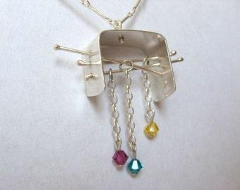 Special silver and swarovski pendant