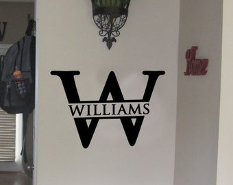 Monogram Name Vinyl Wall Decal