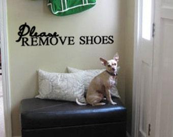 Please Remove Shoes Vinyl Wall Art