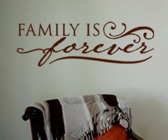 Family Is Forever Vinyl Wall Art