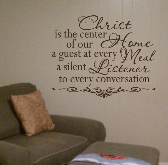 Christ Is the Center Of This Home Vinyl Wall Art