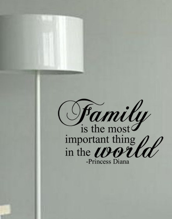 Items Similar To Family Is The Most Important Thing In The