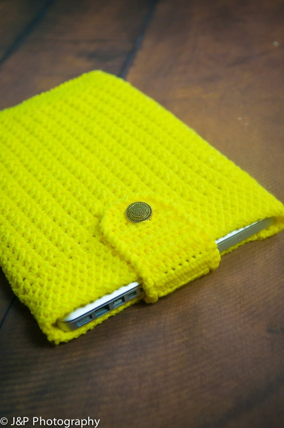 "13-inch HOT YELLOW Knitted Sleeve handmade - For MacBook 13"" / MacBook Pro 13.3"" a1278 / MacBook Air 13"" A1369 Aluminum"