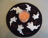Primitive Halloween candle mat, with Pre-Cut pieces