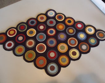 Already Pre-Cut   Penny Rug Kit-you make yourself