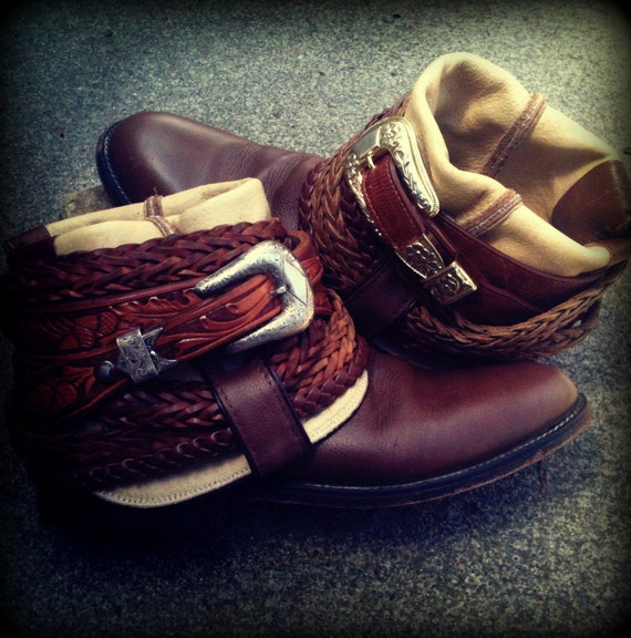 Re-Worked Vintage Cowboy Boots Size 7.5