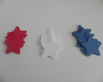 Small Red,White and Blue Stars-Die Cuts
