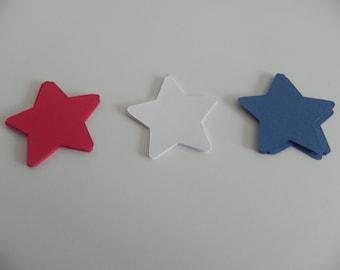 Medium Red, White and Blue Stars-Die Cuts