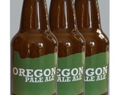 24 Custom Oregon Beer Bottle Labels -- Choose Your Brew