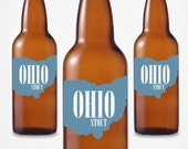 24 Custom Ohio Beer Bottle Labels -- Choose Your Brew