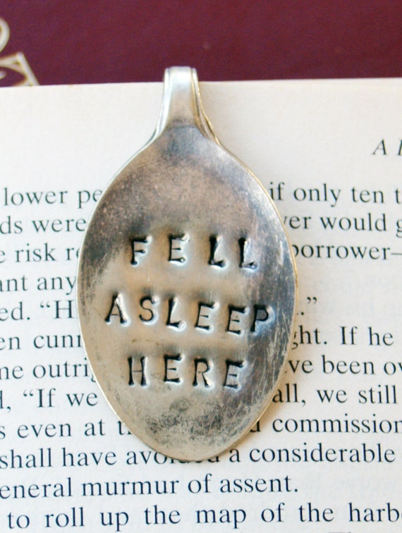 Vintage Silver Tea Spoon Book Mark / Page Clip