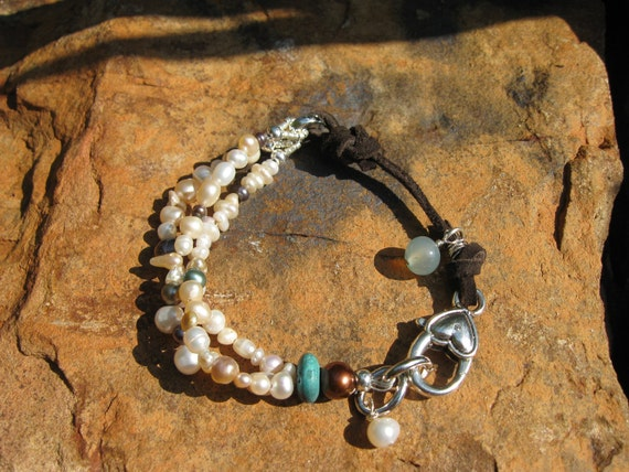 Pearlz, Pearlz, Pearlz......Suede and Pearl Mix -  Boho Chic