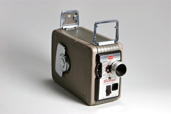 Vintage 1950s Kodak Brownie Camera Brown and SIlver