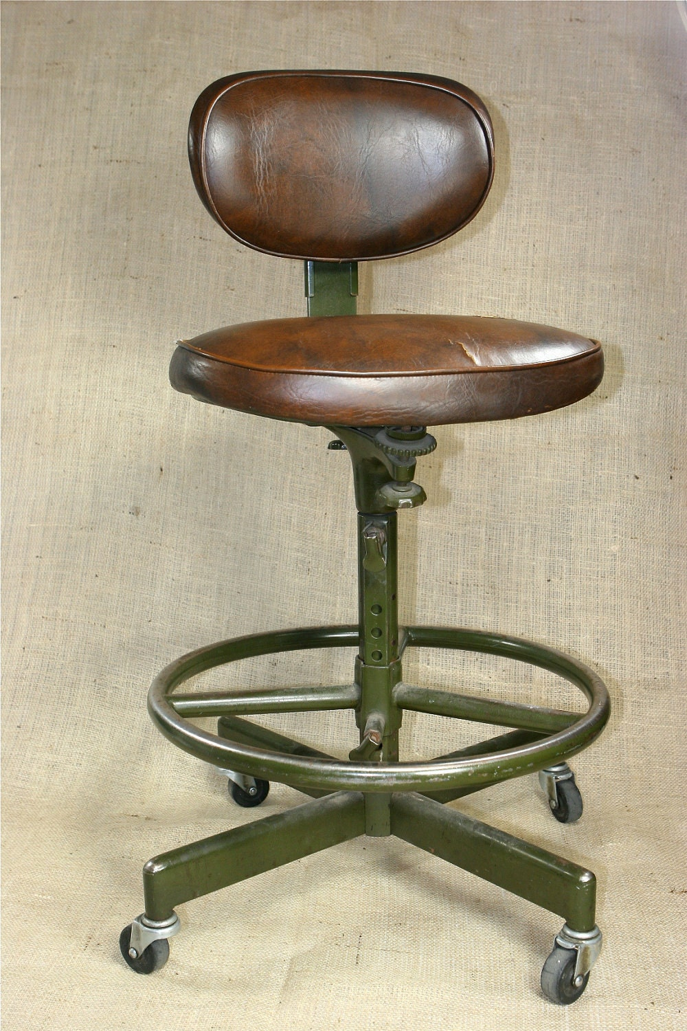 Fantastic vintage industrial age cramer adjustable swivel for Cramer furniture