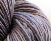 Hand Dyed Yarn, dk weight single ply merino wool, light purple yarn