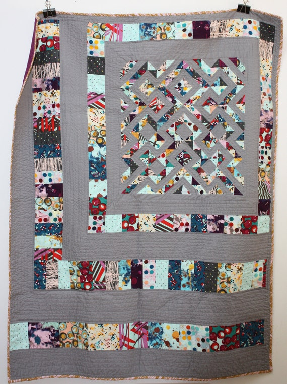 Habitat - Modern Patchwork Throw Quilt