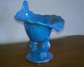Cornflower glossy Blue Spooner Dish