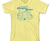 The Origninal Hunger Games Hungry Hippo Shirt - Yellow - Small - XX-Large