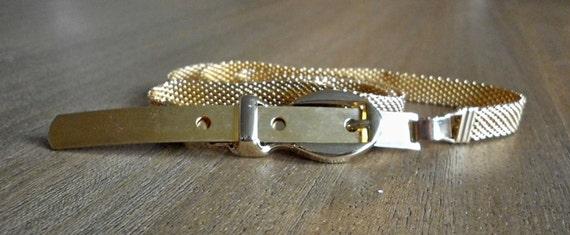 SALE Vintage High Waisted Gold Metal Unique Buckle Belt