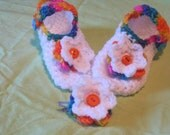 Cutsie Mary Jane Slippers With Matching Hairclip.