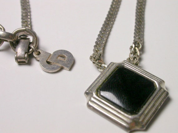 Reserved Christian Dior Black Onyx Necklace