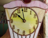 Stained glass cupcake clock