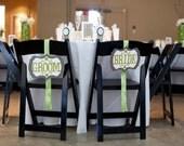 Bride & Groom Chair Signs