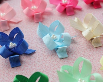 Girls hair bows - set of 12 - My first hair bow - 1.00 hair bows -  Baby girls, Infants and Toddlers hair bows - You can choose colors