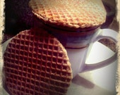 Stroopwafel- Dutch Waffle Cookie with a Cinnamon Caramel Center
