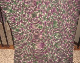 Purple diamond tuscan stitch