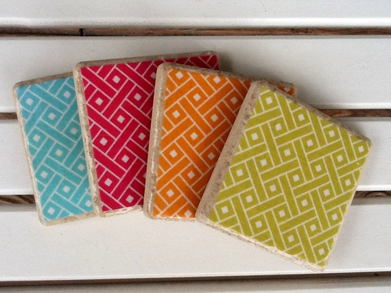 Colorful Spring Coasters