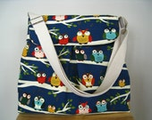 Made-To-Order Singing Owls on Tree Branch Crossbody Bag