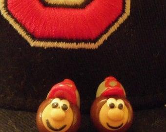 Ohio State Buckeyes Post Earrings