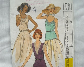 Vintage Vogue Camisole or Sleeveless Top Pattern, Vogue 9192, Very Versatile and Stylish