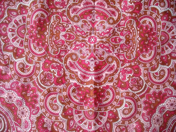 Vintage La Dear Silk and Rayon Scarf, Paisley in Pinks, Wonderful Condition