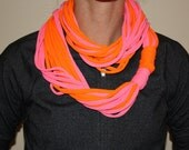 Neon t-shirt Scarf/Necklace Adds The Perfect Pop Of Color