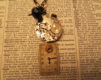 Beaded Clockwork Necklace