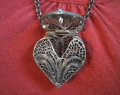 REDUCED Heart Locket Pendant