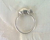Sterling Silver Rat or Mouse Ring
