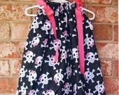 Girly Pirate Skull & Crossbones Boutique Pillowcase Dress :PC014