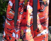 Boutique pillowcase dress featuring Cars  Size 3 Months thru 6/7 :CH037