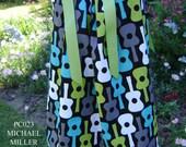 Michael Miller Groovy Guitars Boutique Pillowcase Dress size 3 Months thru 6/7 :PC023