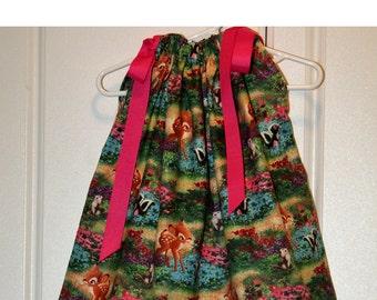 Pillowcase Dress Featuring Bambi - Sizes  Dress - sizes 3 months thru 6/7 :CH003