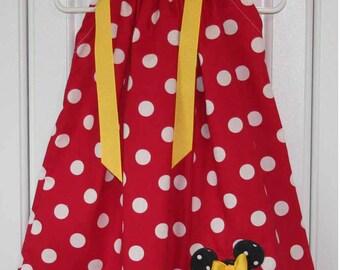 Featuring Minnie Mouse - Pillowcase Dress - Sizes 3 months, thru 6/7 :CH015