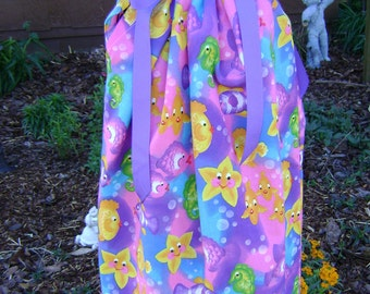 Featuring Happy Little Starfish - Pillowcase Dress - Sizes 12 months,2t.,4t and 6/7 available for immediate ship
