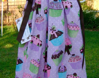 Lavender Sassy Cupcakes Boutique Pillowcase Dress :PC008