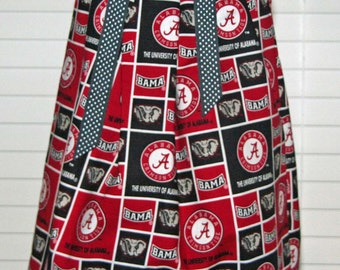 Featuring Alabama Crimson Tide Block Pattern Pillowcase Dress :TD040-sizes 6mo, 2t,3t,5 can immediate ship